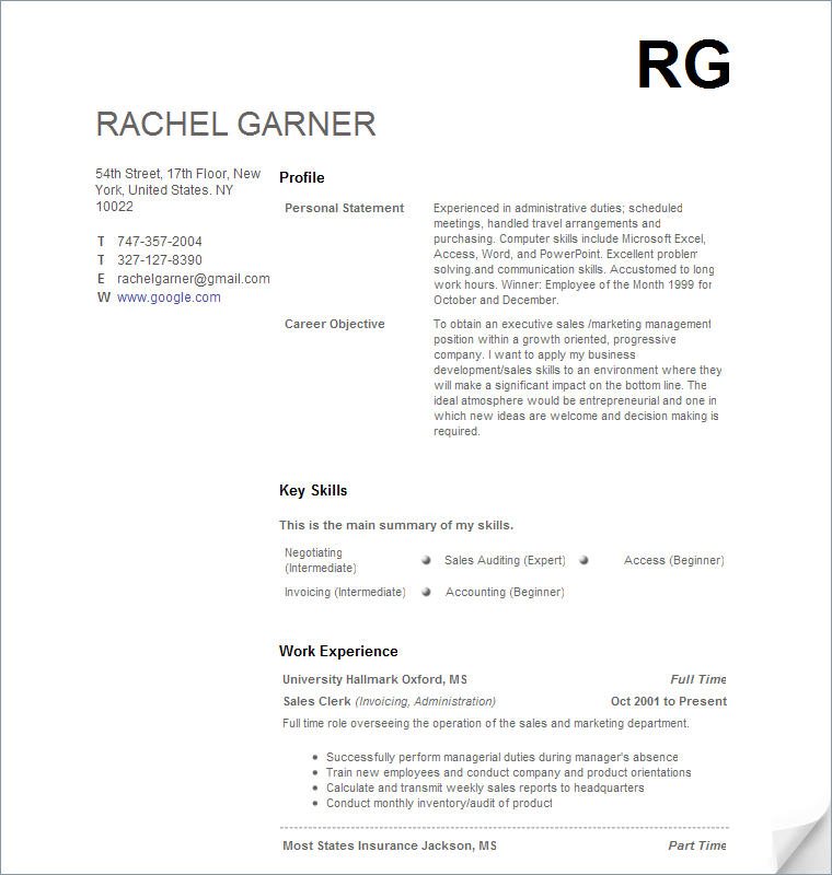 Free Sample Resume Templates Advice And Career Tools